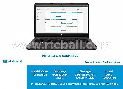 HP 240 G8 365K4PA Core i3 1005G1 4GB 256GB SSD Win10 (Dark ash silver)